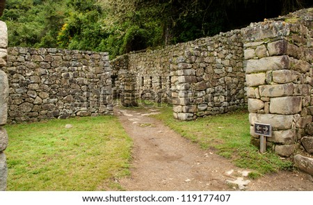 The halfway point between Machu Picchu and the Sun Gate (Intipiunku), Peru
