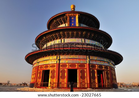 The Hall of Prayer for Good Harvests in the Temple of Heaven in Beijing