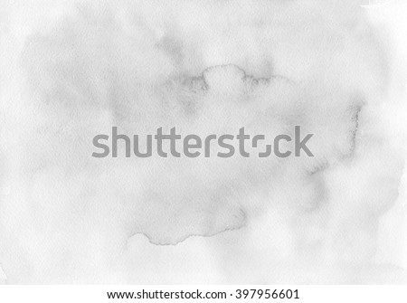 The hand drawn watercolor background of natural pastel tint, soft gray color. Texture of watercolor paper