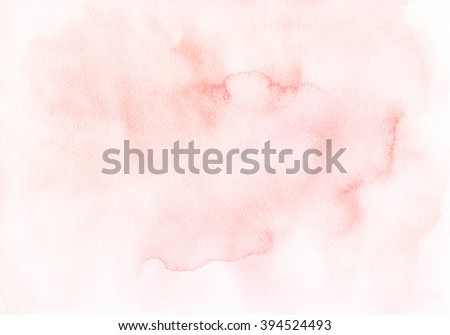 The hand drawn watercolor background of pastel natural beige color. Watercolor paper.