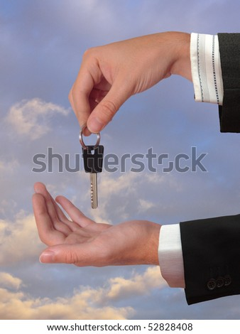 The Hand giving the Key of the House