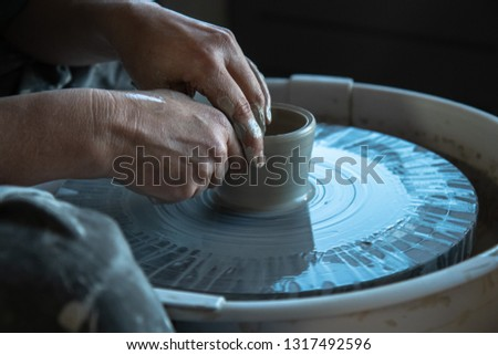 The hands of the potter