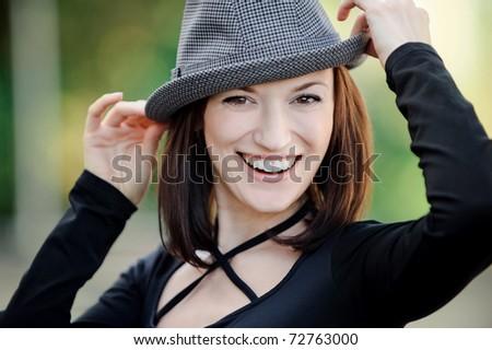 The happy beautiful girl