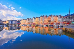 The harbor of Honfleur, Normandy, France