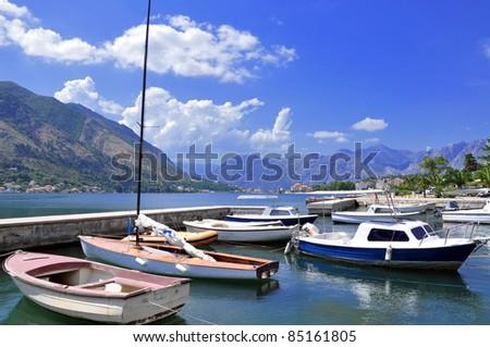 The harbor of Kotor, Montenegro