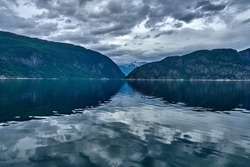 The Hardangerfjord is the fourth longest fjord in the world, and the second longest fjord in Norway. It is located in the Hardanger region. The fjord stretches 179 kilometres. The other side