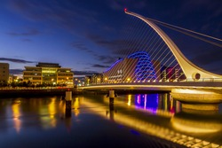 the harp bridge Dublin city