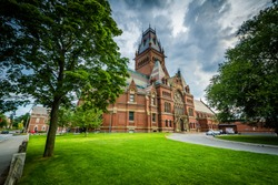 The Harvard Memorial Hall, at Harvard University, in Cambridge, Massachusetts.