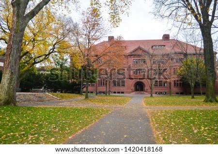 The Harvard University building in Cambridge, Massachusetts, USA