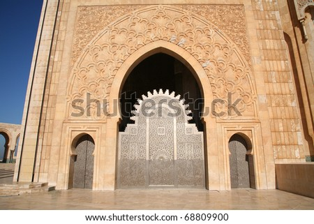 The Hassan II Mosque in Casablanca, Morocco.