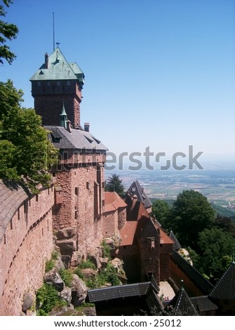 The Haut-Koenigsbourg castle in the Alsace Region, northeast France. For many centuries, this region has been the source of numerous armed conflicts between France and Germany