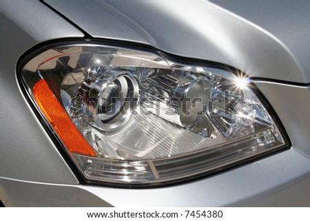 The headlight of a car