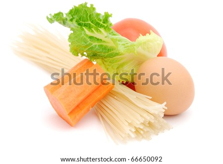 the healthy foods isolated white background