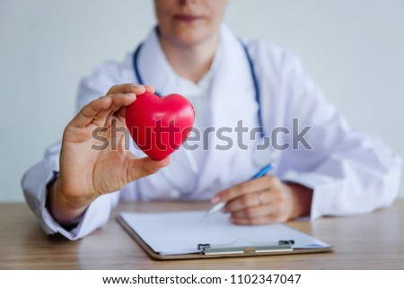 The heart in the hand doctor. #1102347047
