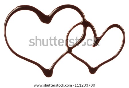 The heart is made of chocolate syrup