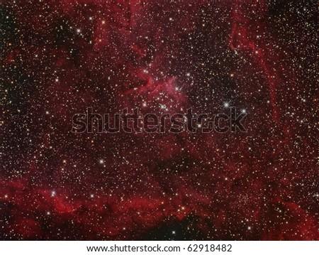 The Heart Nebula, IC 1805, Bright Nebula in Cassiopeia