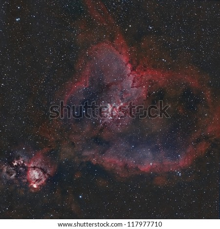 The Heart Nebula in Narrowband Colors