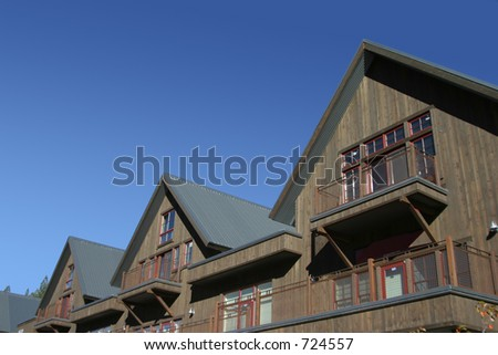 The hearty roofs of an alpine resort.