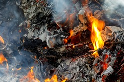 The heat of the fire has done its job and destroyed all in its path, and background or metaphor for business, life, sport, career or relationship