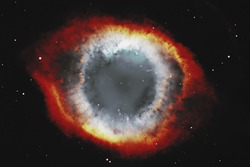 The Helix Nebula or NGC 7293 in the constellation Aquarius. Elements of this image are furnished by NASA.