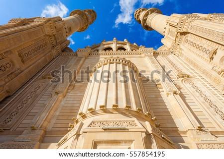 The Heydar Mosque in Baku, Azerbaijan