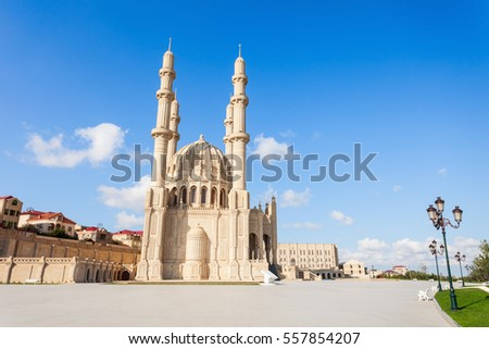 The Heydar Mosque in Baku city in Azerbaijan