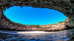 """The hidden beach in Mexico """"Playa Escondida"""""""