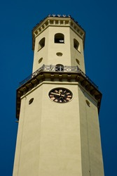 The high bell tower and clock tower.