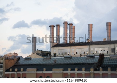 The high chimneys of an old electric power station