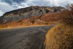 The high granite peaks and cliffs of northern Utah are spectacular in the fall.  The mountain roads provide endless, panoramic views of the rugged area.