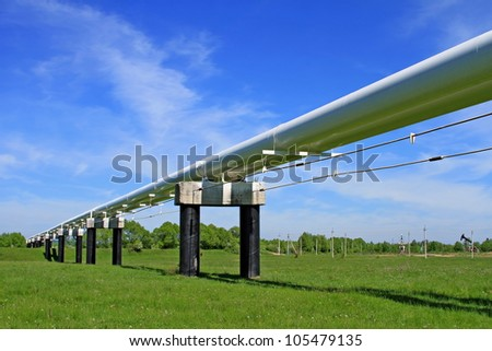 The high pressure pipeline. - stock photo