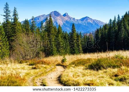 The High Tatras Mountains (Vysoké Tatry, Tatry Wysokie, Magas-Tátra), are a mountain range along the border of Slovakia in the Prešov Region, and southern Poland in the Lesser Poland Voivodeship. #1422273335
