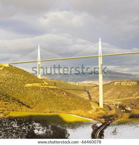 the highest bridge in the world, Millau, France