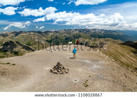 The highest point of Route de la Bonette in the French Alps, near the border with Italy. It is situated within the Mercantour National Park on the border of the departments of Alpes-Maritimes and Alp #1108028867
