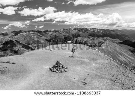 The highest point of Route de la Bonette in the French Alps, near the border with Italy. It is situated within the Mercantour National Park on the border of the departments of Alpes-Maritimes and Alp #1108663037