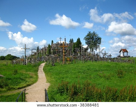 The Hill of Crosses about 12 km north of the city of SIAULIAI, in northern Lithuania