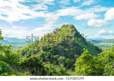 The hilly midlands of Sri Lanka near Dambulla.