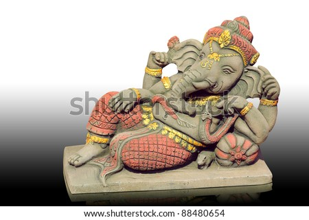 The Hindu god Ganesh. It is believed that there would be a fortune.