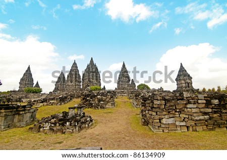 The Hinduism Prambanan temple