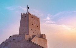 The historic Barzan Tower in Doha, Qatar, Middle East