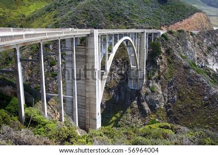 The historic Bixby Creek Bridge on the Big Sur coast
