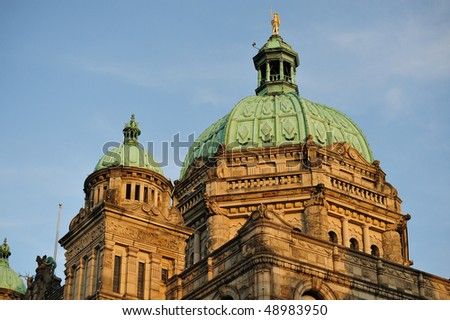 The historic british columbia province parliament building (built in 1893) in victoria , bc, canada