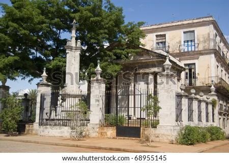 The historic El Templete - said to be the founding spot of the city of Havana, Cuba. Plaza de Armas, Havana.