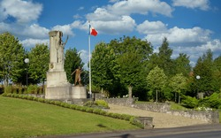 The historic French War Memorial near Arras city