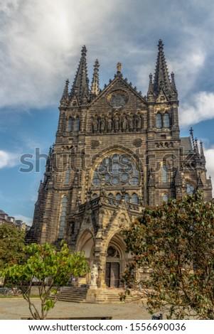 The historic gospel church Peterskirche in Leipzig Germany #1556690036