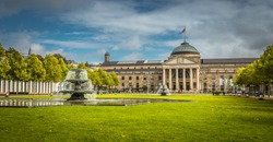 The historic Kurhaus of Wiesbaden.