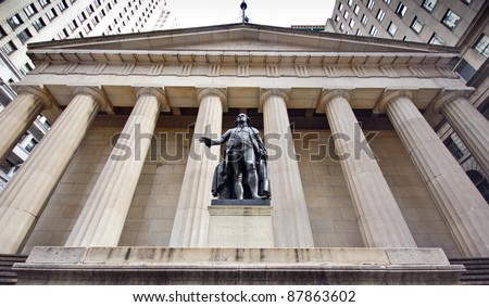The historic landmark, The New York City Federal Hall