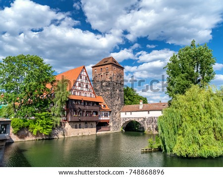 The historic old town of Nuremberg in Franconia #748868896