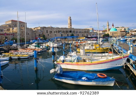 The historic port of Acre in north Israel