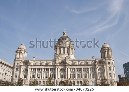 The Historic Port of Liverpool Building with its Domes and Ornate Architecture